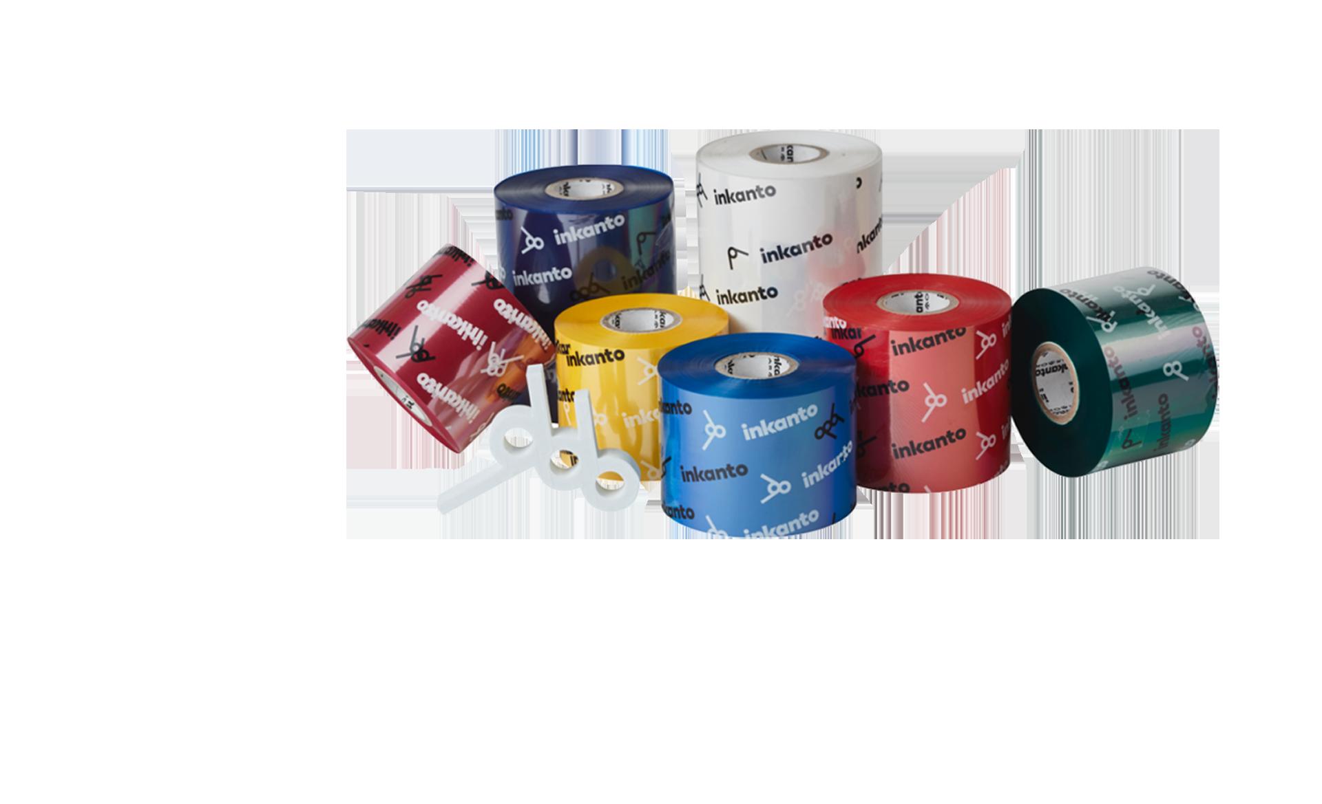 rouleaux de papier coloré